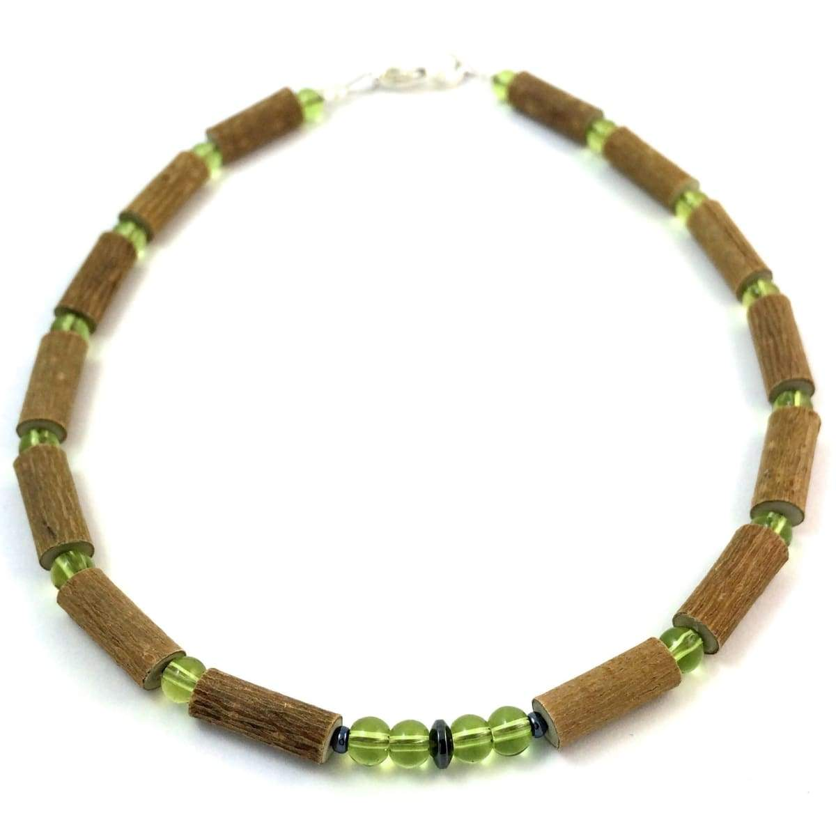 Hazel-Gemstone Green Peridot - 11 Necklace - Lobster Claw Clasp - Hazelwood & Gemstone Jewelry