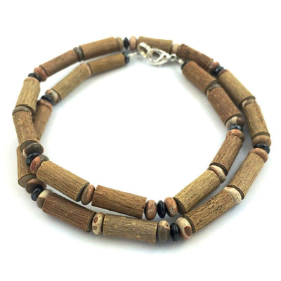 Hazel-Gemstone Natural Jasper - 16 Necklace - Lobster Claw Clasp - Hazelwood & Gemstone Jewelry
