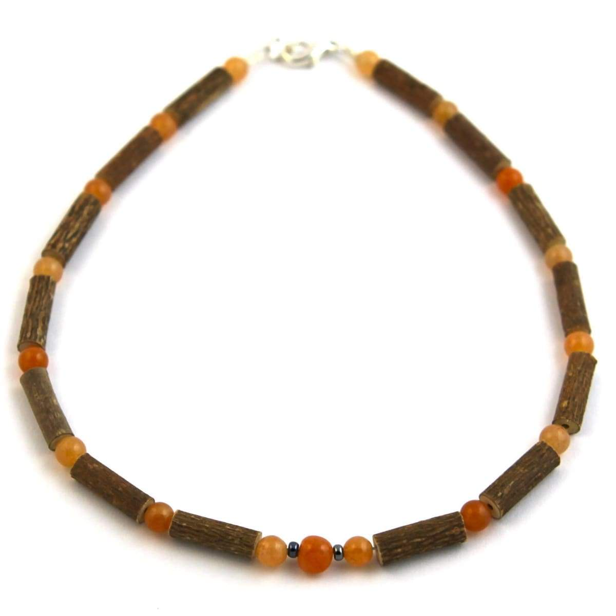 Hazel-Gemstone Orange Aventurine - 11 Necklace - Lobster Claw Clasp - Hazelwood & Gemstone Jewelry