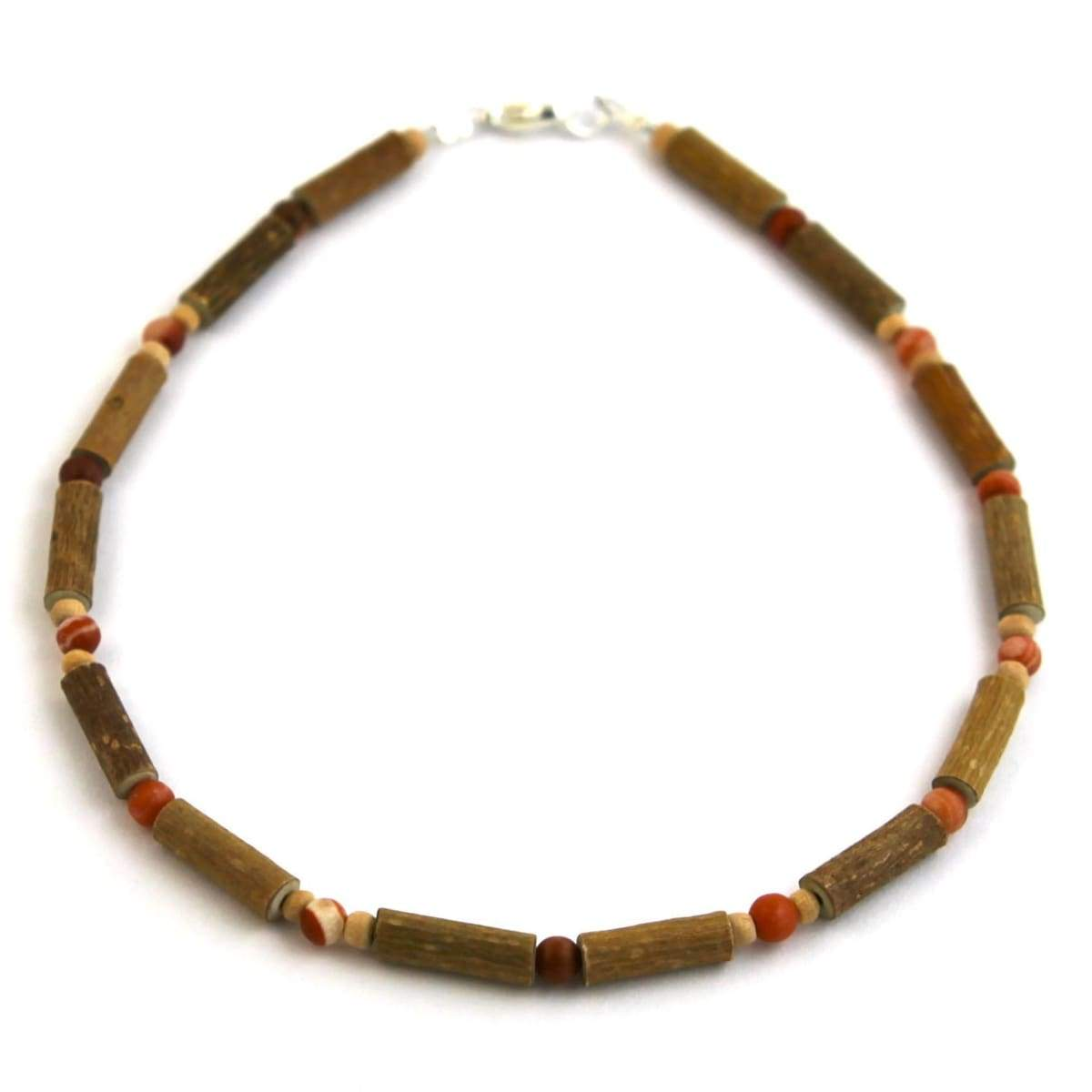 Hazel-Gemstone Red Malachite - 11 Necklace - Lobster Claw Clasp - Hazelwood & Gemstone Jewelry