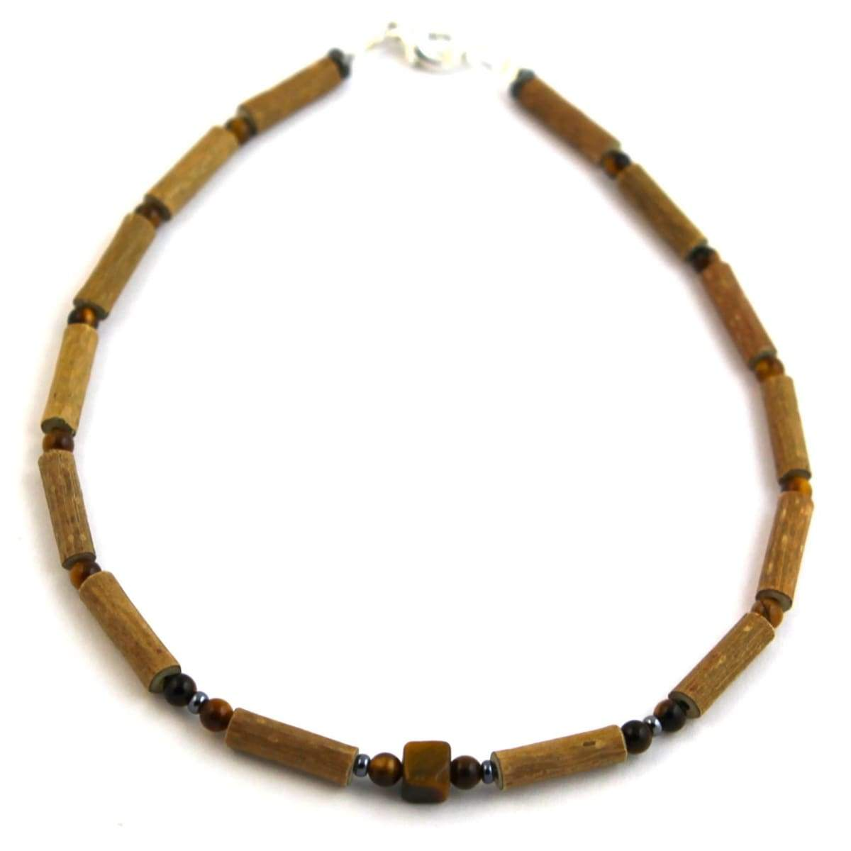 Hazel-Gemstone Tiger Eye - 11 Necklace - Lobster Claw Clasp - Hazelwood & Gemstone Jewelry