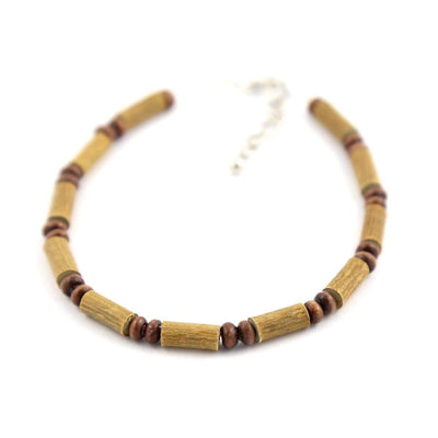 Hazelwood All Brown For Kids - 6-7 Adjustable Anklet - Lobster Claw Clasp - Hazelwood Jewelry