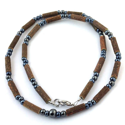 Hazelwood All Hematite - 16 Necklace - Hazelwood Jewelry