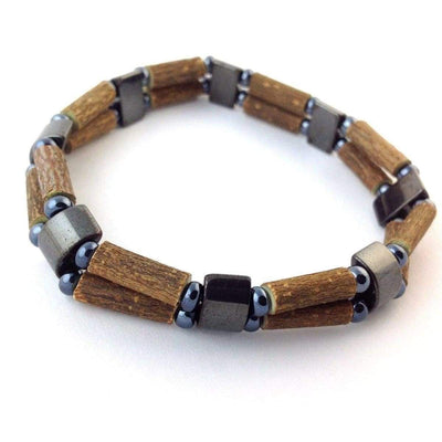 Hazelwood All Hematite - 7 Double Bracelet - Hazelwood Jewelry