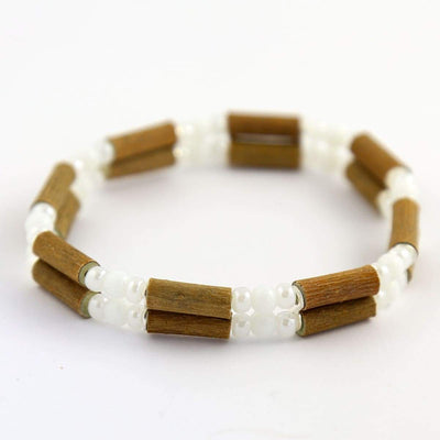 Hazelwood All White - 7 Double Bracelet - Hazelwood Jewelry