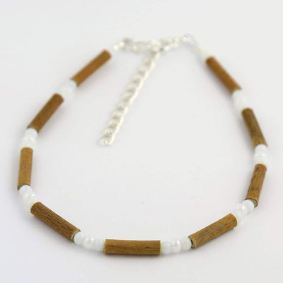 Hazelwood All White - 9.5-10.5 Anklet - Hazelwood Jewelry
