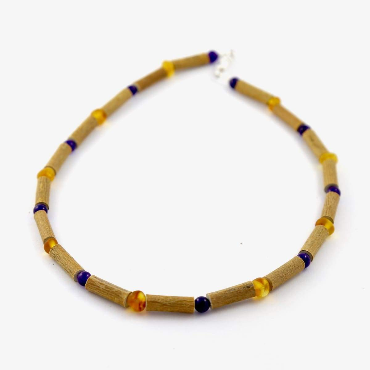 Hazelwood Amber & Amethyst - 11 Necklace - Barrel Twist Clasp - Hazelwood Jewelry