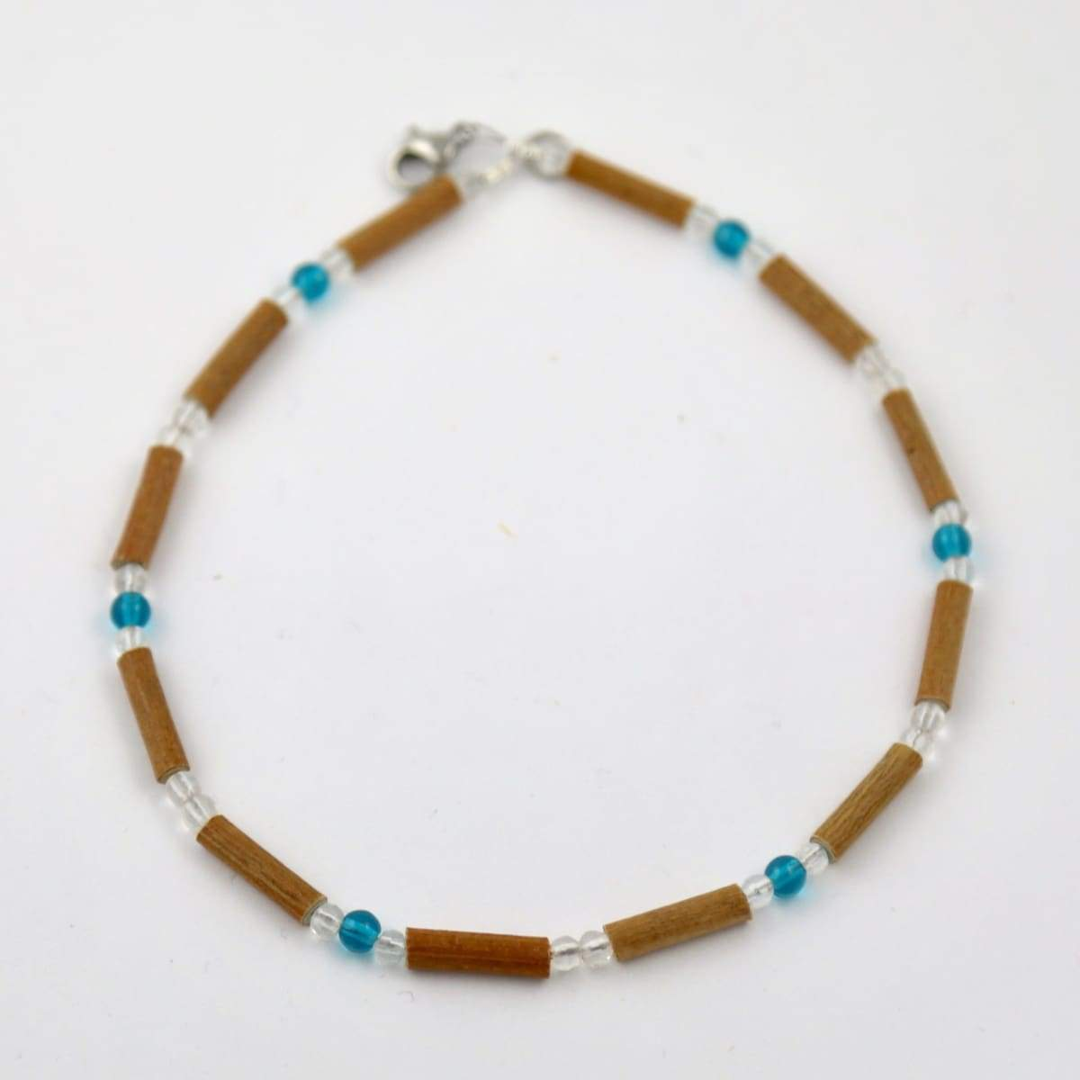 Hazelwood Aqua & Clear - 11 Necklace - Barrel Twist Clasp - Hazelwood Jewelry