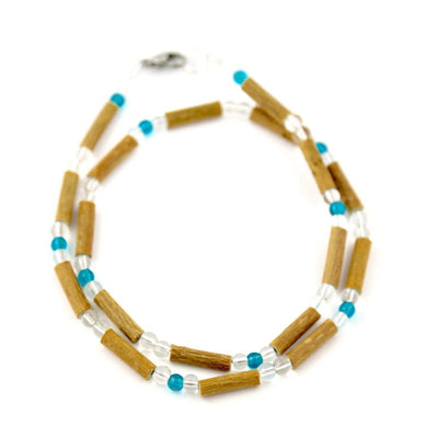 Hazelwood Aqua & Clear - 16 Necklace - Hazelwood Jewelry