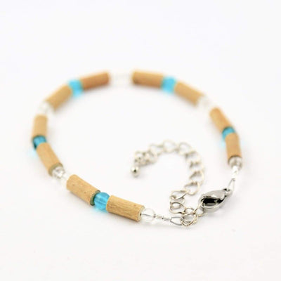 Hazelwood Aqua & Clear - 6-7 Adjustableanklet - Hazelwood Jewelry