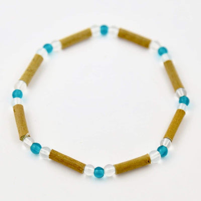 Hazelwood Aqua & Clear - 6 Bracelet - Hazelwood Jewelry