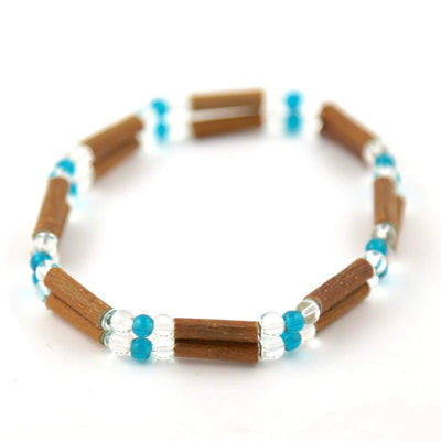 Hazelwood Aqua & Clear - 7 Double Bracelet - Hazelwood Jewelry