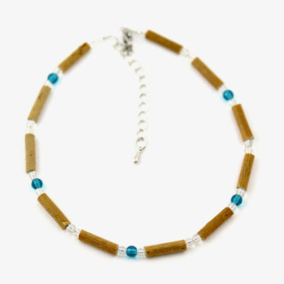 Hazelwood Aqua & Clear - 9.5-10.5 Anklet - Hazelwood Jewelry