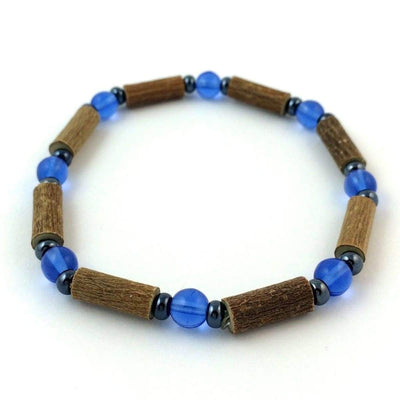 Hazelwood Blue & Hematite - 7 Bracelet - Hazelwood Jewelry