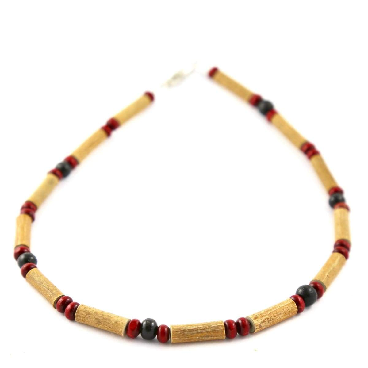 Hazelwood Burgundy & Black - 11 Necklace- - Barrel Twist Clasp - Hazelwood Jewelry