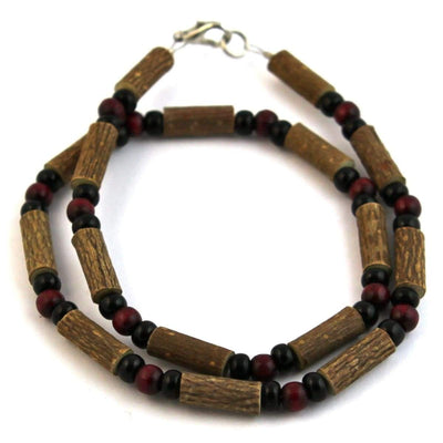 Hazelwood Burgundy & Black - 16 Necklace - Hazelwood Jewelry