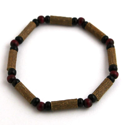 Hazelwood Burgundy & Black - 7 Bracelet - Hazelwood Jewelry