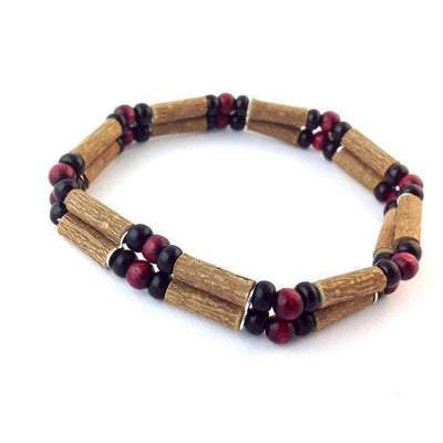 Hazelwood Burgundy & Black - 7 Double Bracelet - Hazelwood Jewelry