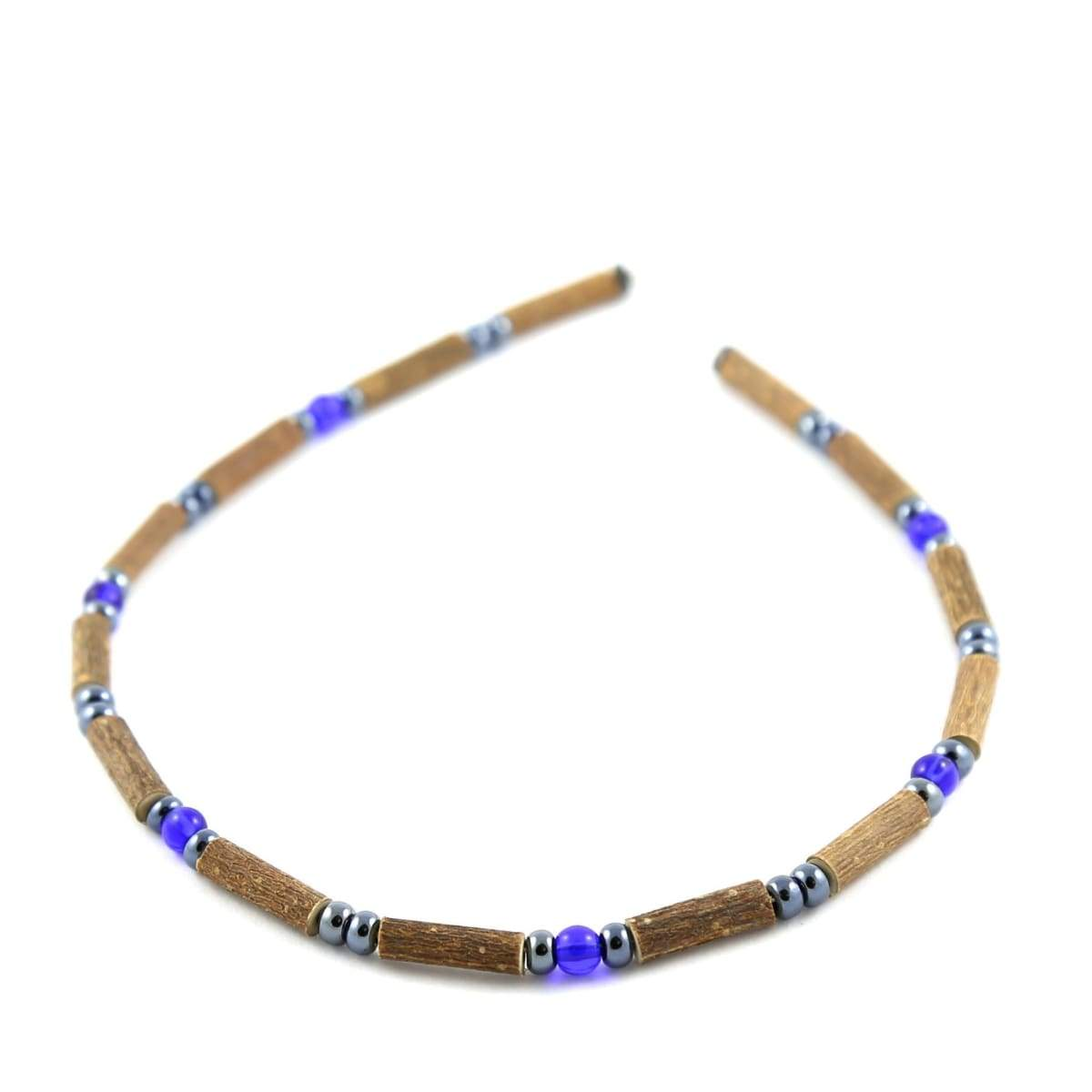 Hazelwood Dark Blue & Hematite - 11 Necklace - Barrel Clasp - Hazelwood Jewelry