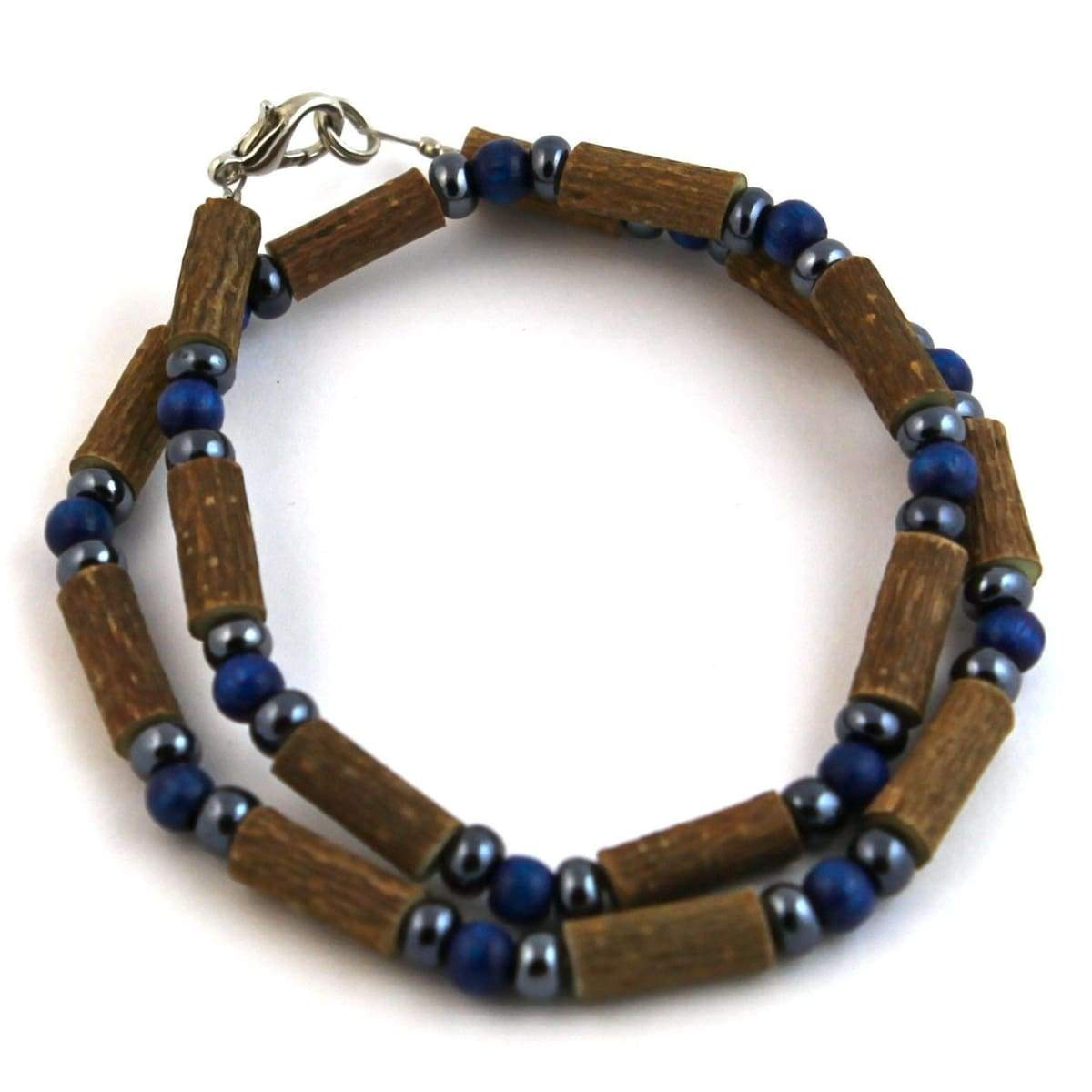Hazelwood Dark Blue & Hematite - 16 Necklace - Hazelwood Jewelry
