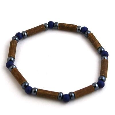 Hazelwood Dark Blue & Hematite - 7 Bracelet - Hazelwood Jewelry