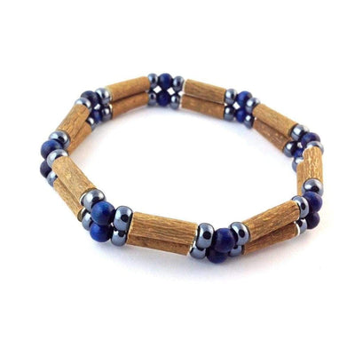 Hazelwood Dark Blue & Hematite - 7 Double Bracelet - Hazelwood Jewelry