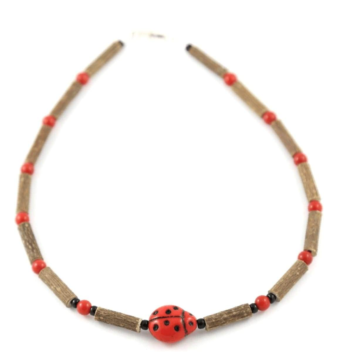 Hazelwood Ladybug - 11 Necklace - Barrel Twist Clasp - Hazelwood Jewelry