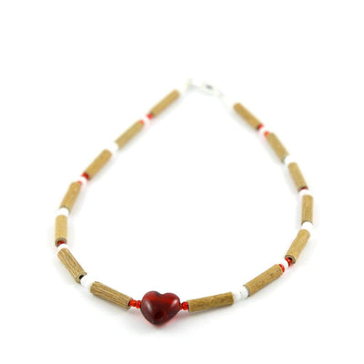 Hazelwood Red Heart - 11 Necklace - Barrel Twist Clasp - Hazelwood Jewelry