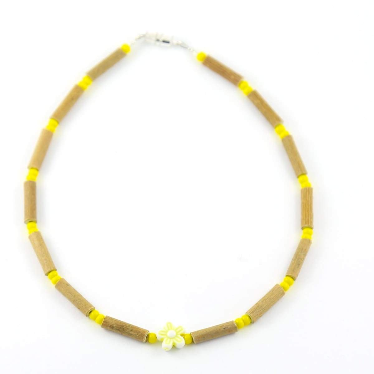Hazelwood Yellow Flower - 11 Necklace - Barrel Twist Clasp - Hazelwood Jewelry