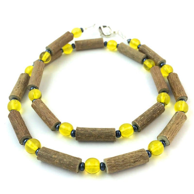 Hazelwood Yellow & Hematite - 16 Necklace - Hazelwood Jewelry
