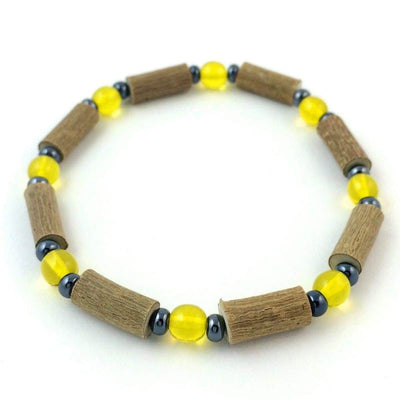 Hazelwood Yellow & Hematite - 7 Bracelet - Hazelwood Jewelry