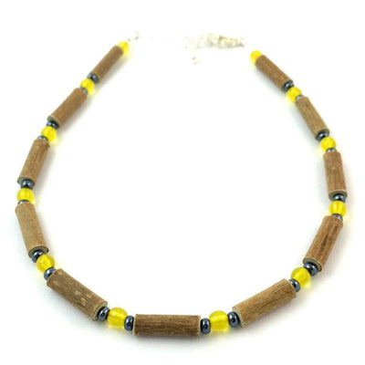 Hazelwood Yellow & Hematite - 9.5-10.5 Adjustable Anklet - Hazelwood Jewelry
