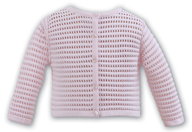 SARAH LOUISE 006707 PINK CARDIGAN IN STOCK