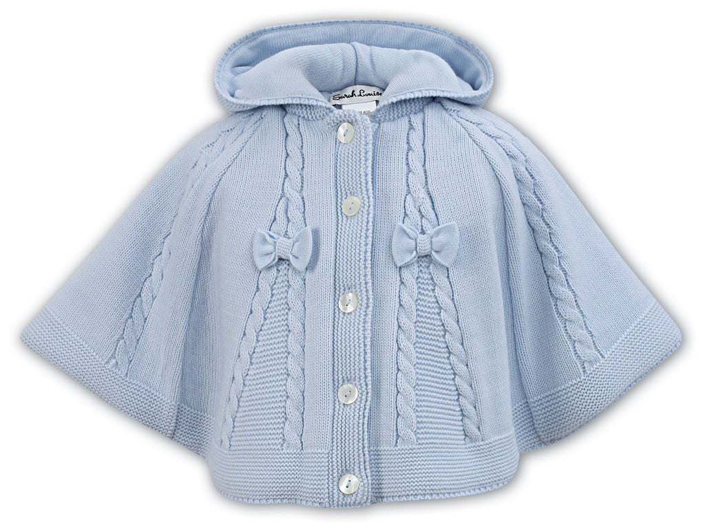 SARAH LOUISE 008061 BLUE PONCHO IN STOCK