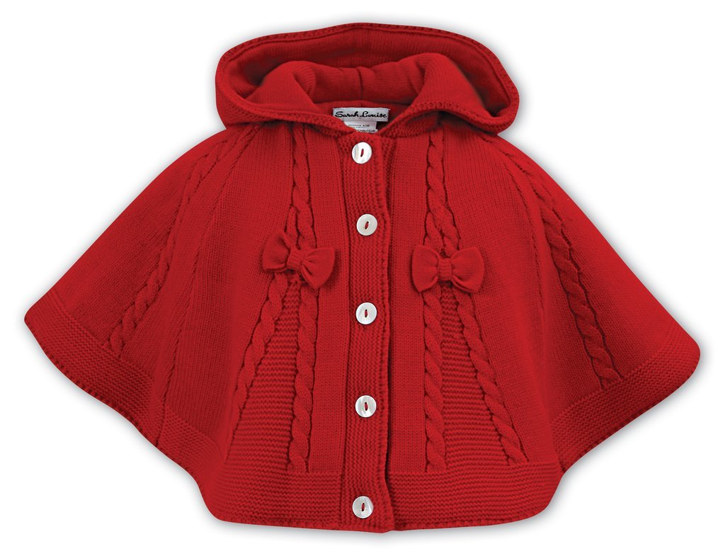 SARAH LOUISE 008061 RED PONCHO
