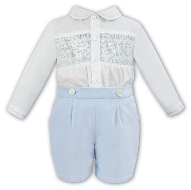 SARAH LOUISE 011253 IVORY BLUE TWO PIECE SET
