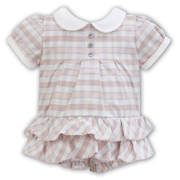 SARAH LOUISE 011337 IVORY PINK BUBBLE