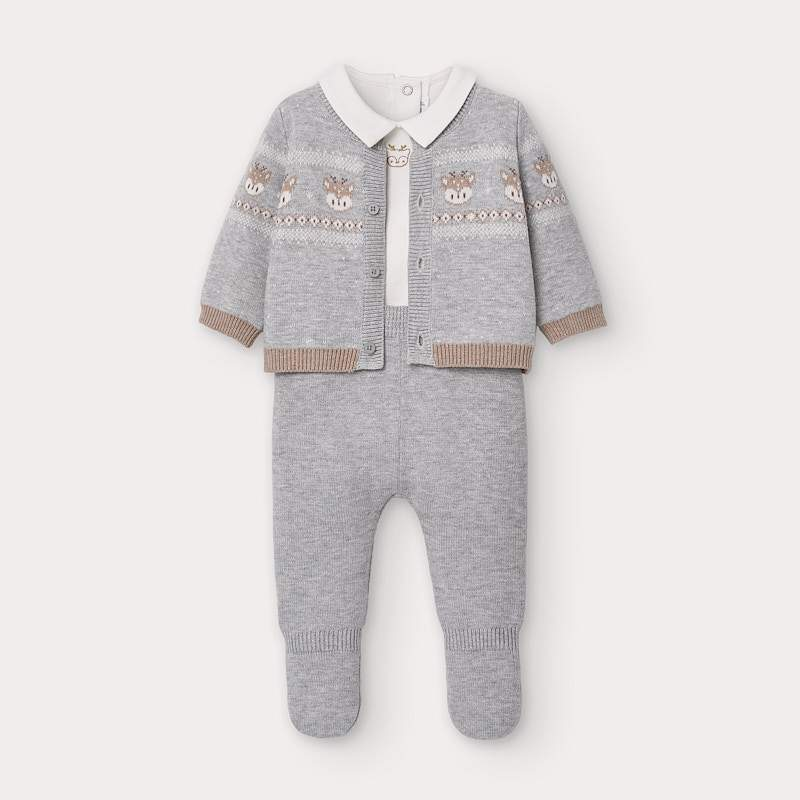MAYORAL 2559 GREY THREE PIECE KNIT SET IN STOCK