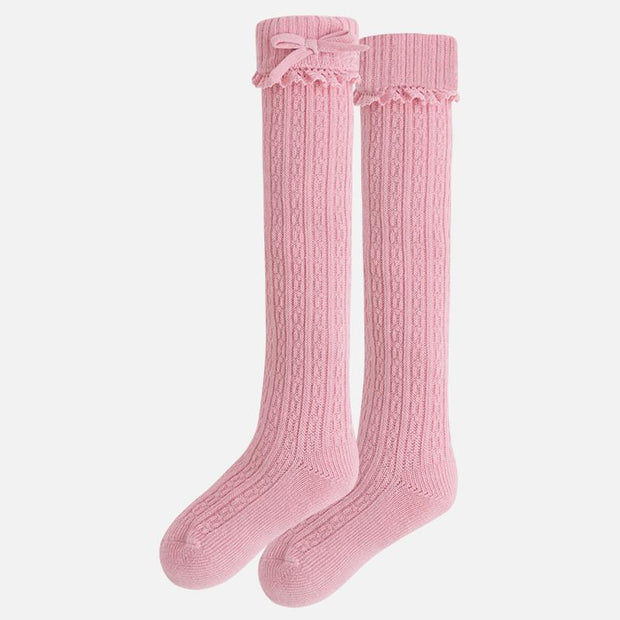 MAYORAL 10280 BUBBLEGUM PINK KNEE HIGH SOCKS