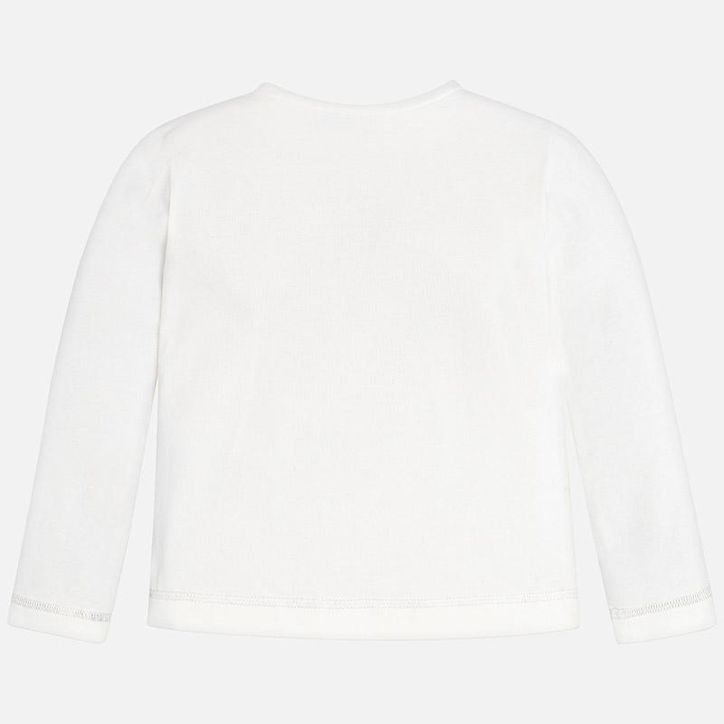 MAYORAL 4068 OFF WHITE LONG SLEEVE TEE-SHIRT IN STOCK