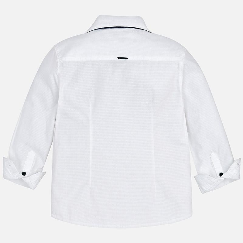 MAYORAL 4138 WHITE LONG SLEEVE SHIRT AND BOWTIE IN STOCK