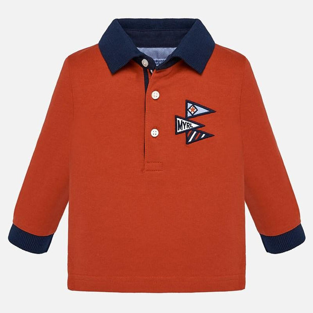 MAYORAL 2103 ORANGE POLO SHIRT