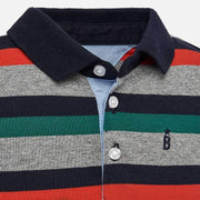 MAYORAL 2105 LONG SLEEVE STRIPE POLO SHIRT