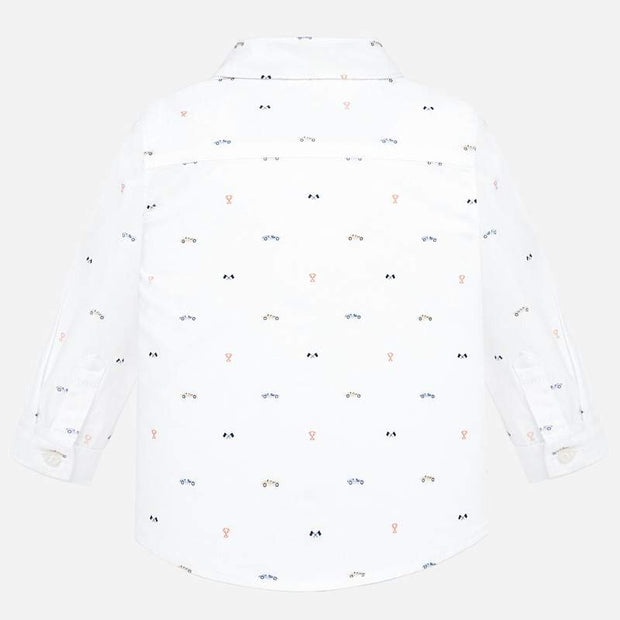MAYORAL 2115 WHITE LONG SLEEVE SHIRT