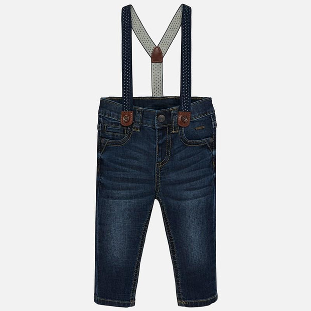 MAYORAL 2544 DARK BLUE TROUSERS WITH BRACES