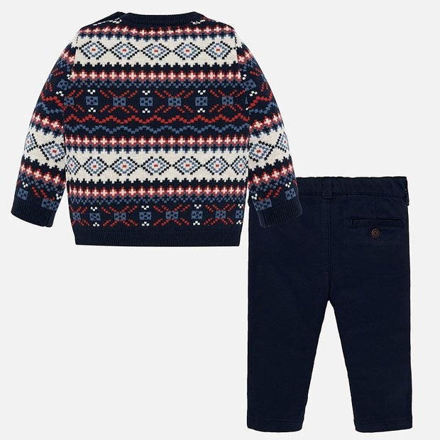 MAYORAL 2545 DARK BLUE JUMPER AND TROUSERS