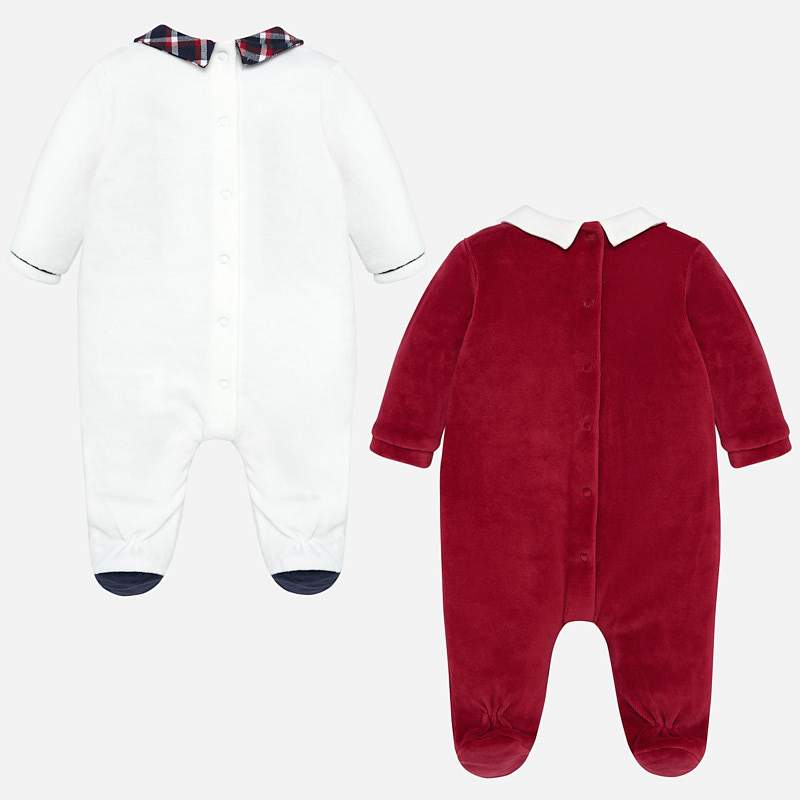 MAYORAL 2723 CREAM RED SET OF TWO PYJAMAS