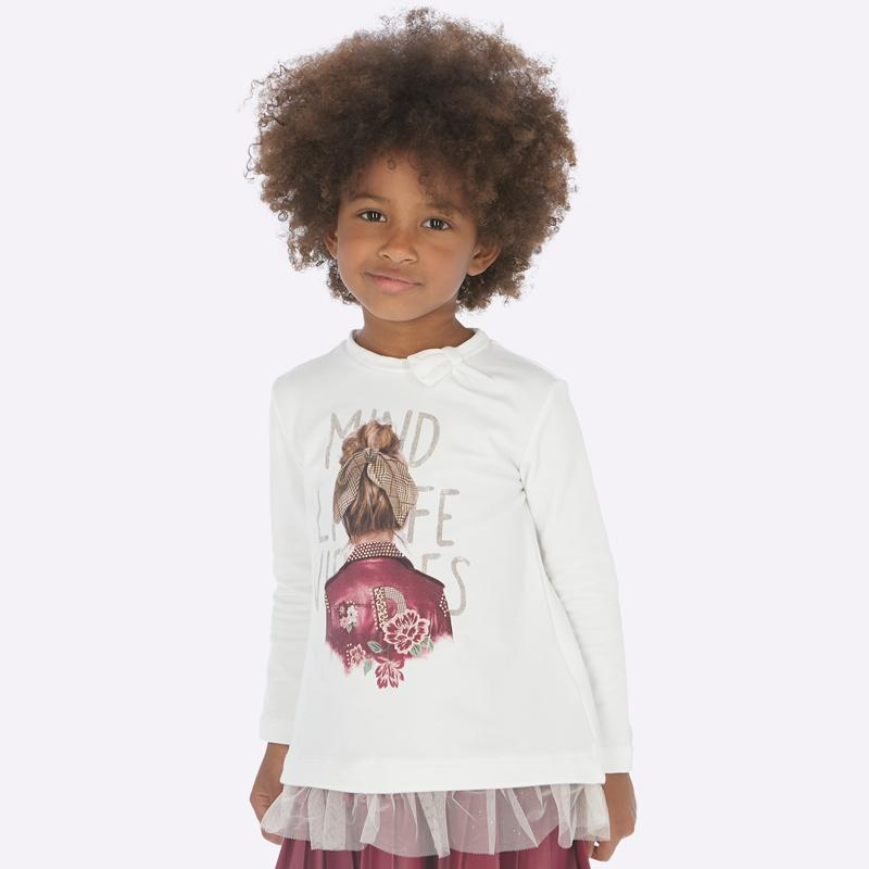 MAYORAL 4010 RUBY LONG SLEEVE TEE-SHIRT