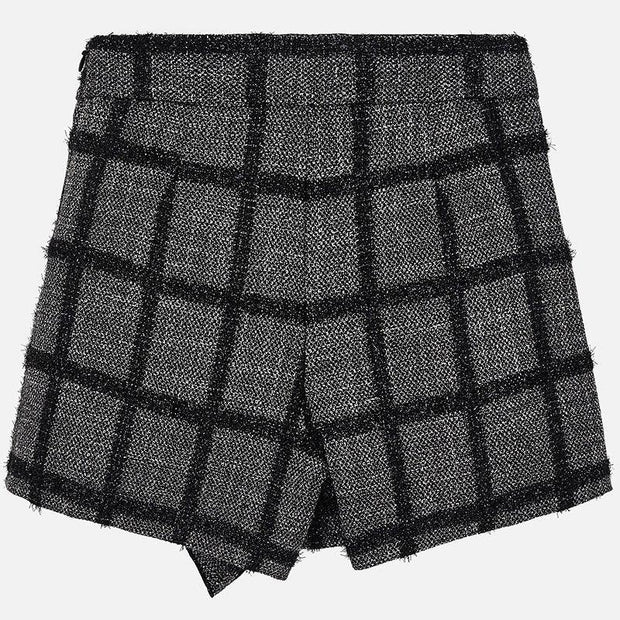 MAYORAL 4203 BLACK CHECK SHORTS