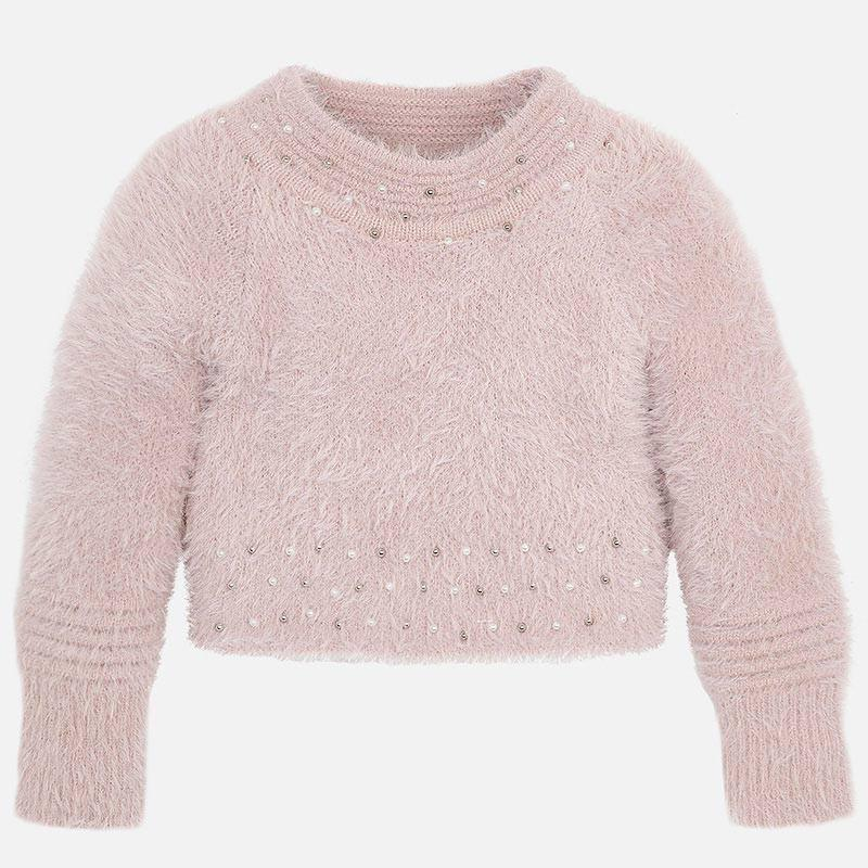 MAYORAL 4301 PINK FAUX FUR JUMPER